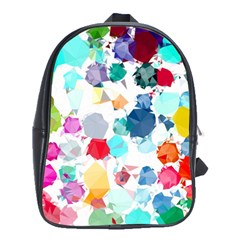 Colorful Diamonds Dream School Bags(large)  by DanaeStudio