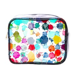 Colorful Diamonds Dream Mini Toiletries Bags by DanaeStudio