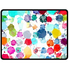 Colorful Diamonds Dream Fleece Blanket (large)  by DanaeStudio