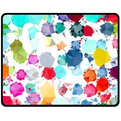 Colorful Diamonds Dream Fleece Blanket (medium)  by DanaeStudio