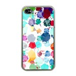 Colorful Diamonds Dream Apple iPhone 4 Case (Clear) Front