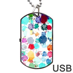 Colorful Diamonds Dream Dog Tag Usb Flash (two Sides)  by DanaeStudio