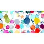Colorful Diamonds Dream Best Friends 3D Greeting Card (8x4) Back