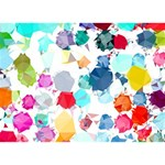 Colorful Diamonds Dream Heart Bottom 3D Greeting Card (7x5) Front