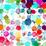 Colorful Diamonds Dream BELIEVE 3D Greeting Card (8x4) Inside