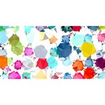 Colorful Diamonds Dream BELIEVE 3D Greeting Card (8x4) Back