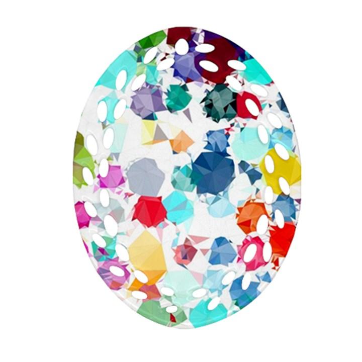 Colorful Diamonds Dream Ornament (Oval Filigree)