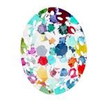 Colorful Diamonds Dream Oval Filigree Ornament (2-Side)  Back