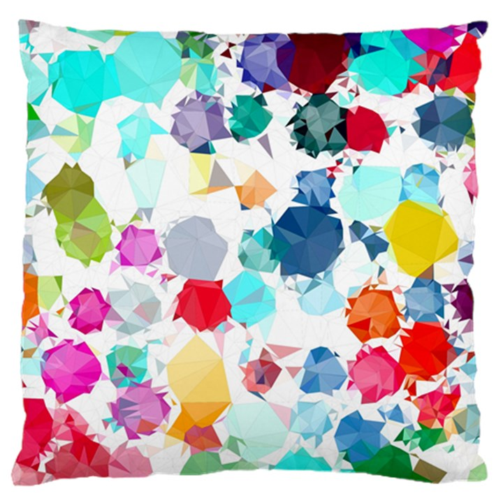 Colorful Diamonds Dream Large Cushion Case (Two Sides)