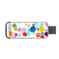 Colorful Diamonds Dream Portable Usb Flash (two Sides) by DanaeStudio