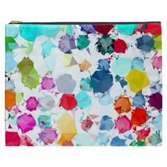 Colorful Diamonds Dream Cosmetic Bag (xxxl)  by DanaeStudio