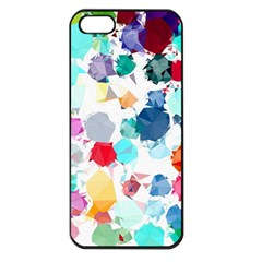 Colorful Diamonds Dream Apple Iphone 5 Seamless Case (black) by DanaeStudio