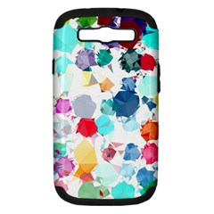 Colorful Diamonds Dream Samsung Galaxy S Iii Hardshell Case (pc+silicone)