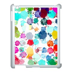 Colorful Diamonds Dream Apple Ipad 3/4 Case (white) by DanaeStudio