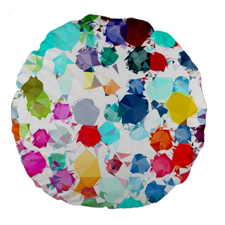 Colorful Diamonds Dream Large 18  Premium Round Cushions