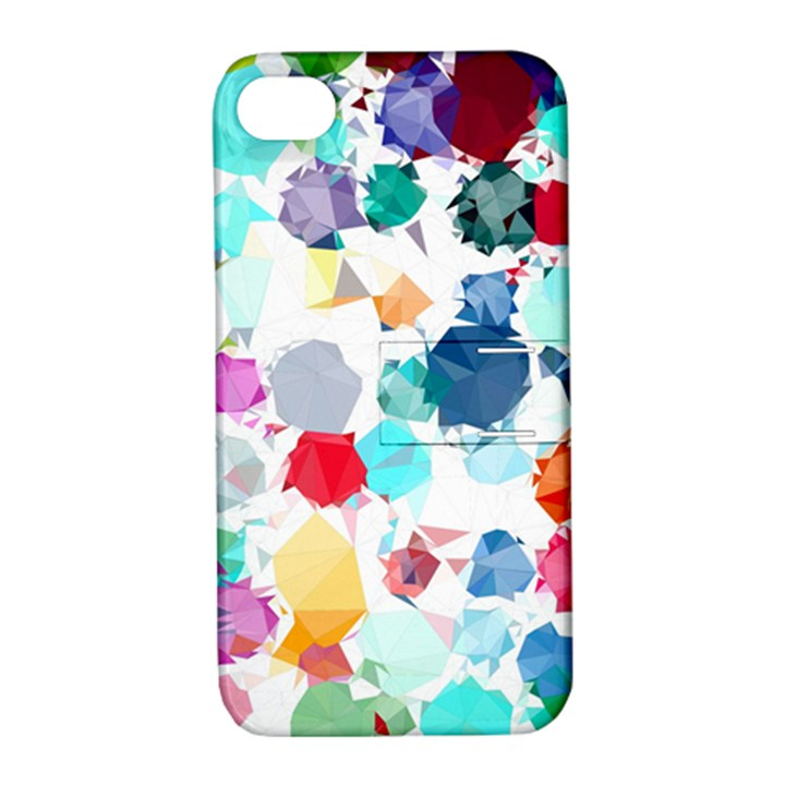 Colorful Diamonds Dream Apple iPhone 4/4S Hardshell Case with Stand