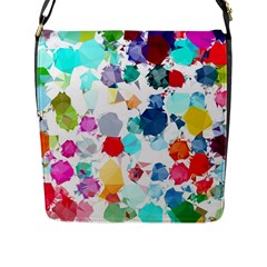 Colorful Diamonds Dream Flap Messenger Bag (l)  by DanaeStudio