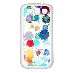 Colorful Diamonds Dream Samsung Galaxy S3 Back Case (white) by DanaeStudio