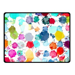 Colorful Diamonds Dream Double Sided Fleece Blanket (small)  by DanaeStudio