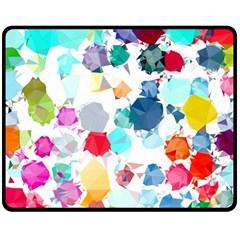 Colorful Diamonds Dream Double Sided Fleece Blanket (medium)  by DanaeStudio