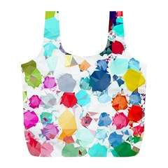 Colorful Diamonds Dream Full Print Recycle Bags (l)  by DanaeStudio