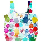 Colorful Diamonds Dream Full Print Recycle Bags (L)  Back