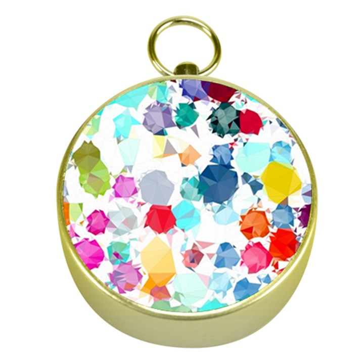 Colorful Diamonds Dream Gold Compasses