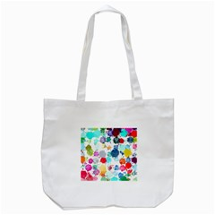 Colorful Diamonds Dream Tote Bag (white)