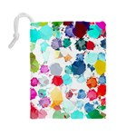 Colorful Diamonds Dream Drawstring Pouches (Large)  Back