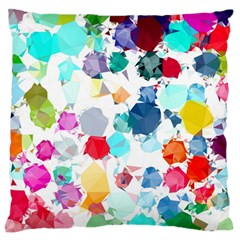 Colorful Diamonds Dream Large Flano Cushion Case (one Side) by DanaeStudio