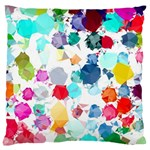 Colorful Diamonds Dream Large Flano Cushion Case (One Side)