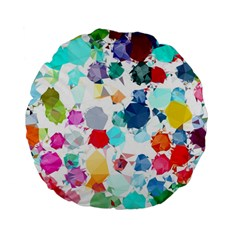 Colorful Diamonds Dream Standard 15  Premium Flano Round Cushions by DanaeStudio