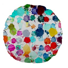 Colorful Diamonds Dream Large 18  Premium Flano Round Cushions by DanaeStudio