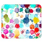 Colorful Diamonds Dream Double Sided Flano Blanket (Small)  50 x40 Blanket Back