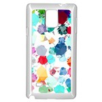 Colorful Diamonds Dream Samsung Galaxy Note 4 Case (White) Front