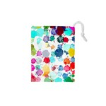 Colorful Diamonds Dream Drawstring Pouches (XS)  Front
