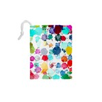 Colorful Diamonds Dream Drawstring Pouches (XS)  Back
