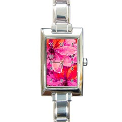 Geometric Magenta Garden Rectangle Italian Charm Watch
