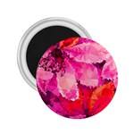 Geometric Magenta Garden 2.25  Magnets Front