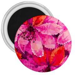 Geometric Magenta Garden 3  Magnets by DanaeStudio