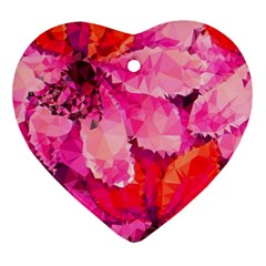 Geometric Magenta Garden Ornament (heart)  by DanaeStudio