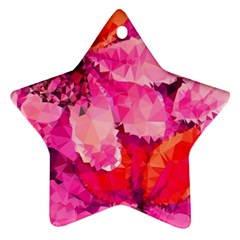 Geometric Magenta Garden Ornament (star)  by DanaeStudio