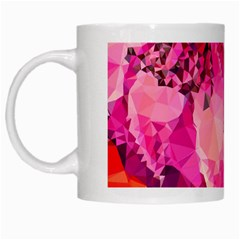 Geometric Magenta Garden White Mugs by DanaeStudio