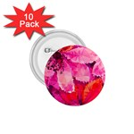 Geometric Magenta Garden 1.75  Buttons (10 pack) Front