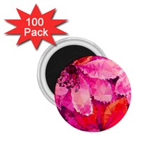 Geometric Magenta Garden 1 75  Magnets (100 Pack)  by DanaeStudio