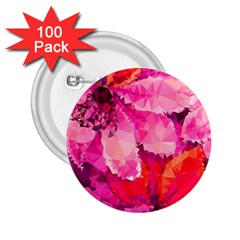 Geometric Magenta Garden 2 25  Buttons (100 Pack)  by DanaeStudio