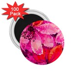 Geometric Magenta Garden 2.25  Magnets (100 pack)  Front