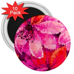 Geometric Magenta Garden 3  Magnets (10 pack)
