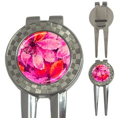 Geometric Magenta Garden 3-in-1 Golf Divots