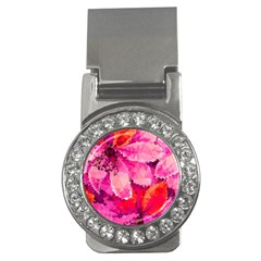 Geometric Magenta Garden Money Clips (cz)